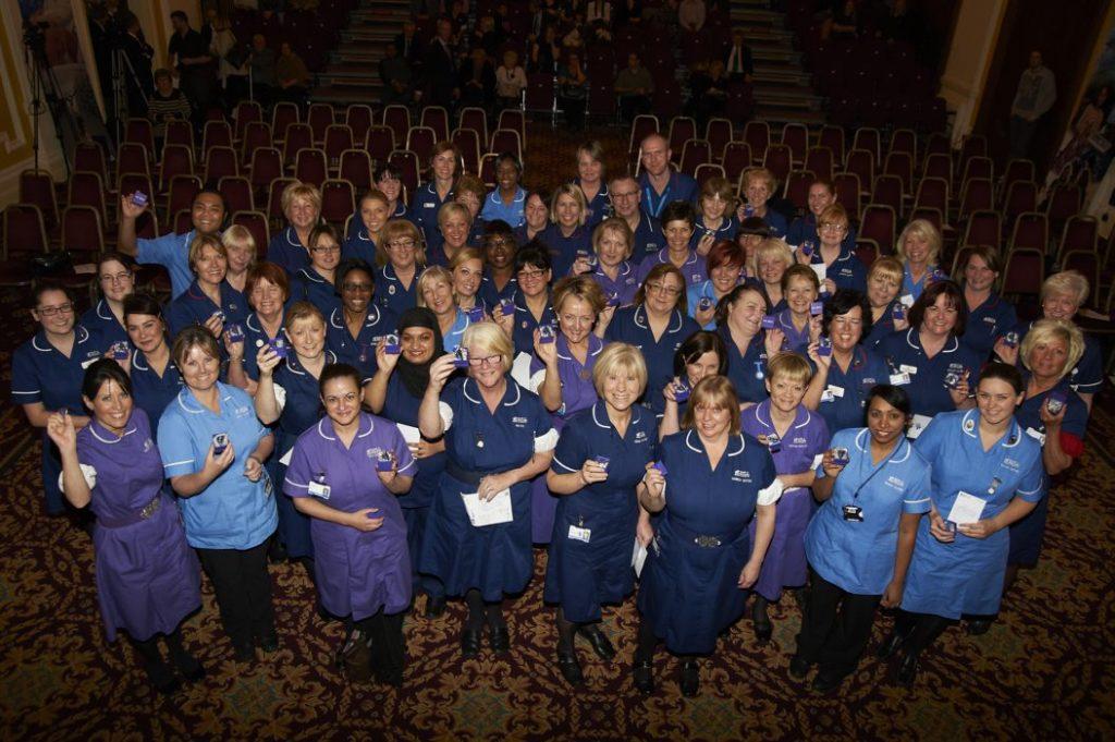 Nurses awarded hospital badges