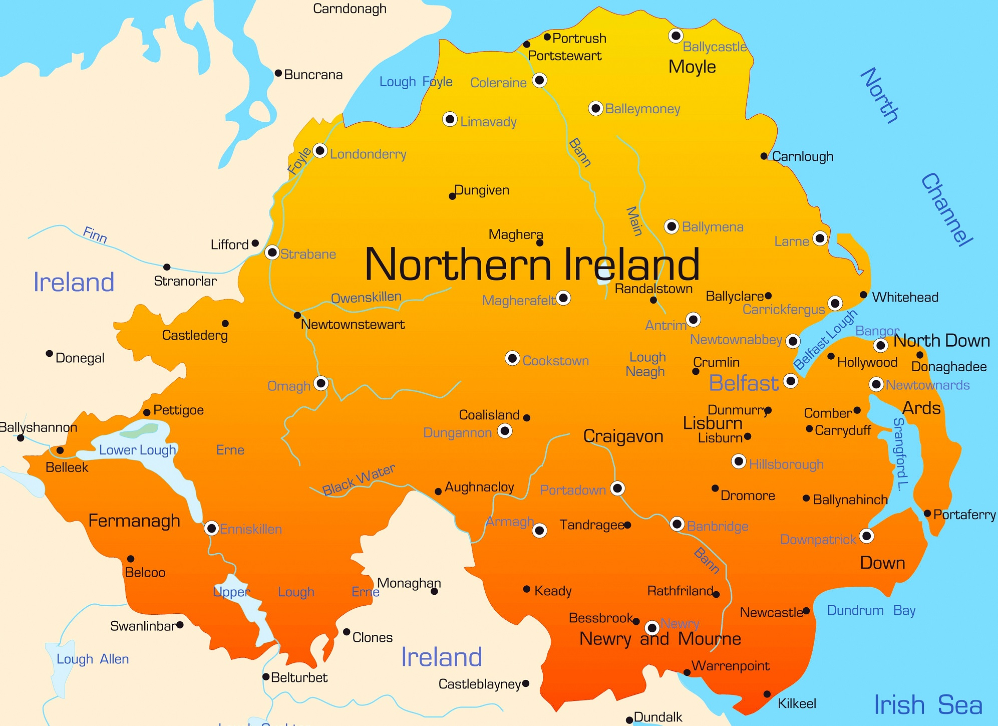 Map Of Ireland Hospitals.Urgent And Emergency Care In Northern Ireland Faces Review