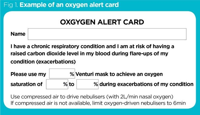 Ensuring the safe use of emergency oxygen therapy in acutely